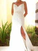 Beautiful A-line dress with sweetheart neckline