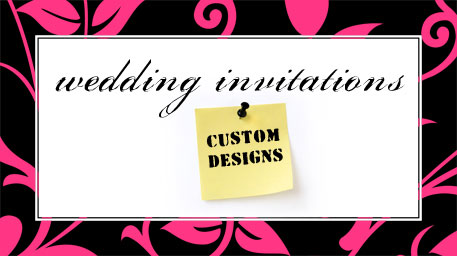 custom design wedding invitations logo