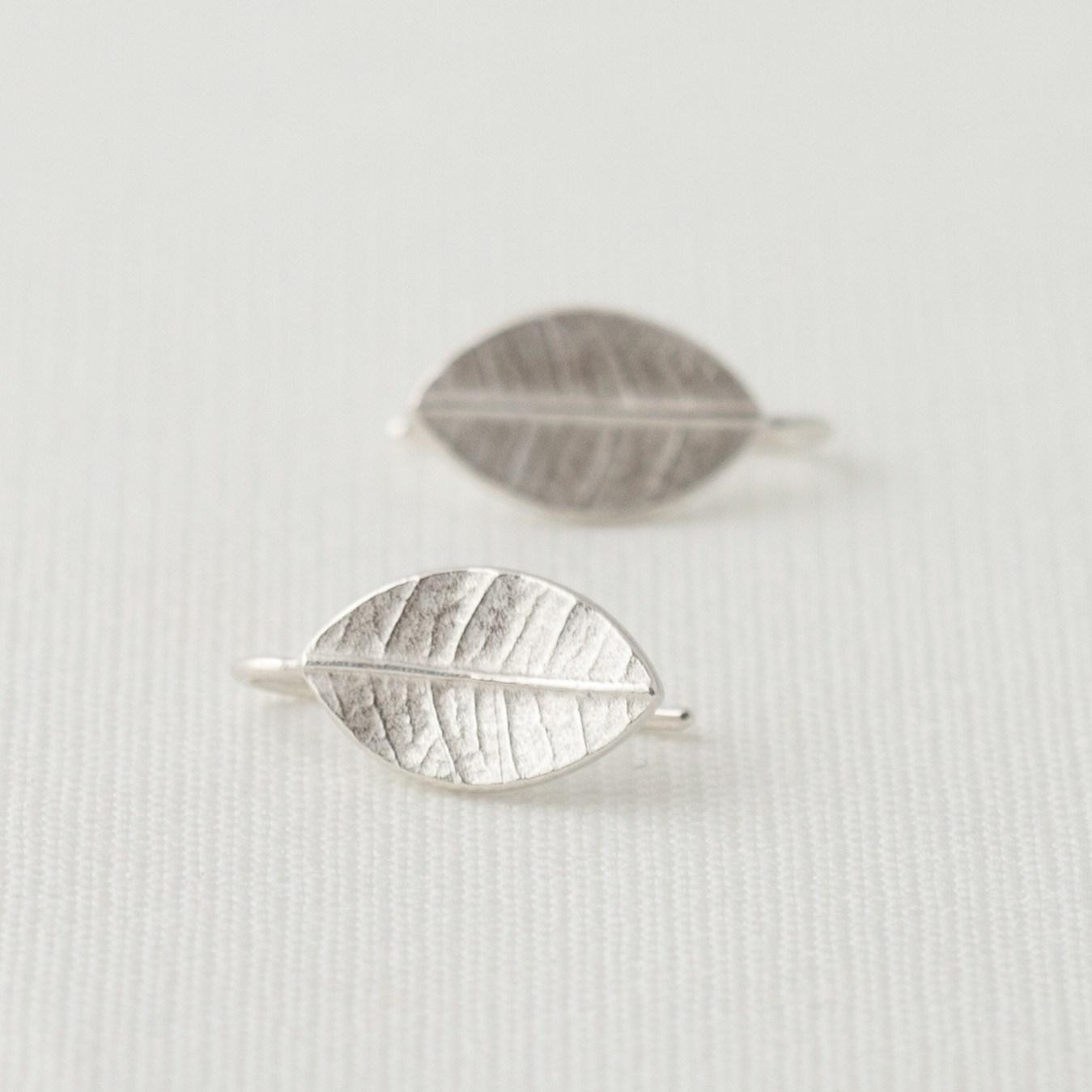 Little Leafy Drops Silver Earrings